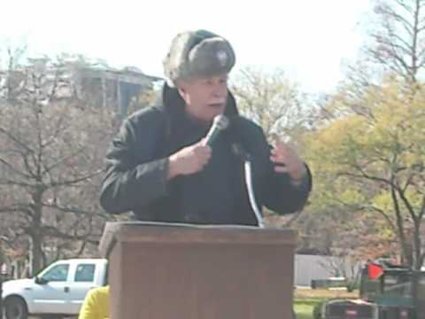 Mike Gravel at the Emergency Anti-Escalation Rally DEC 12 at White House