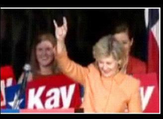 Debra Medina's opponent - Senator Kay Bailey Hutchison