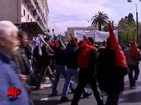 Protesters Riots in Greece on strike over fiscal plan and austerity measures
