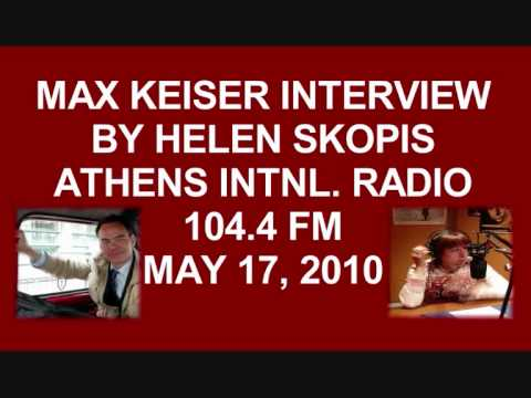 Max Keiser Advices Greek Government to Take Action Against Wall Street May 16 Interview by Helen Skopis