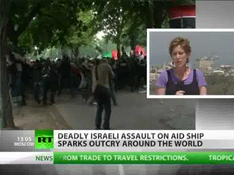 Israeli raid on aid flotilla condemned by UN, 'Free Gaza' protests flare up globally
