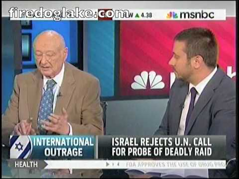 Ed Koch and Jeremy Scahill Debate Israel's Justification for Attacking Aid Floatilla