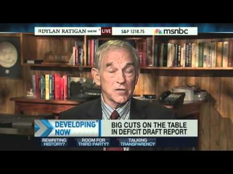 Ron Paul MSNBC The Dylan Ratigan Show 11/10/10: Deficit Commission Proposal