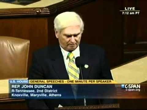 "Rep. Duncan Blasts TSA ""Pat Downs,"" Scanners on House Floor"