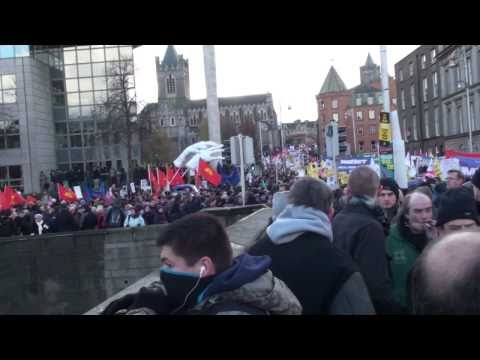 100,000 protesters in Dublin sound the death knell for the treasonous Irish government