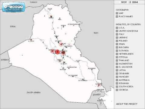 IRAQ WAR | Fatalities - Timeline Visualized (2003 - 2007)