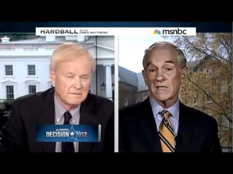 Ron Paul Smacks Down Chris Matthews on Hardball - May 13th
