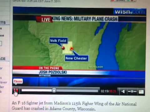 F16 CRASH WISCONSIN WITH CHEMICAL NUCLEAR WEAPON ? ? ?