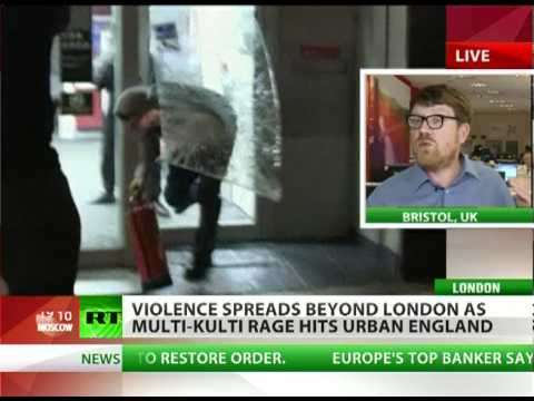 'Banker puppet govt + police brutality + betrayed youth = London riots'