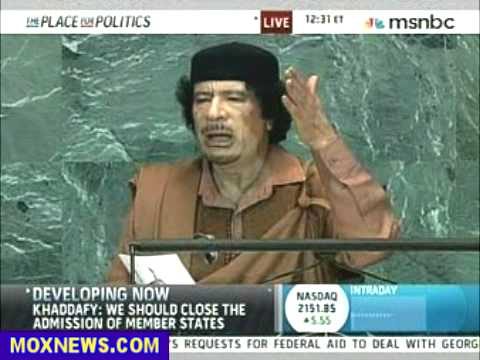 Muammar Gaddafi Speech To United Nations Sept 23, 2009 pt.9