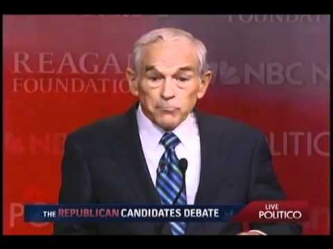Ron Paul: Rick Perry's Forced Vaccinations Are Bad Medicine - Republican Debate (9/7/2011)
