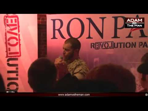 ADAM KOKESH - EXCELLENT!!! Veterans Active Duty march on the White House for RON PAUL!