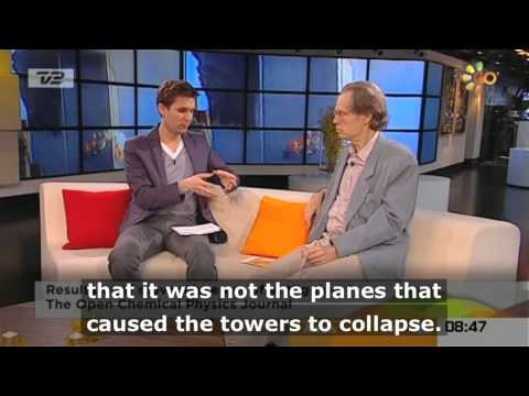 Niels Harrit presenting evidence for nano-thermite in WTC, on GoodMorning Denmark ( English Subs )