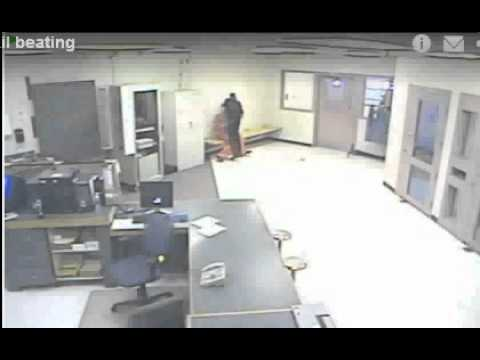Tioga County NY Lt. David Monell beating Cuffed man and spiting on him