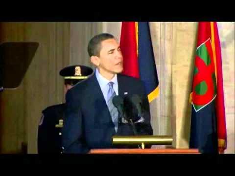 President Barack Obama Denounces Holocaust Denial