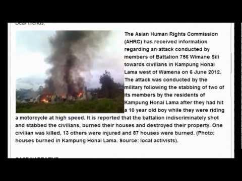 INDONESIA: Military members shot civilians and burned their properties in Wamena, West Papua