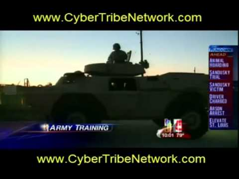 Breaking mainstream news - MARTIAL LAW Military vehicles in St. Louis MO. !!!