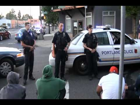 Copwatching  M.O.M.S. and the Police - 7.23.12 Portland Oregon