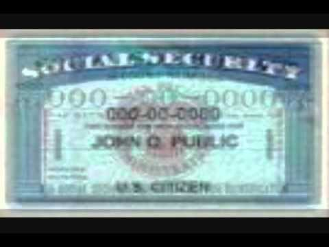 The Correct Way To Use a Social Security Card Part I