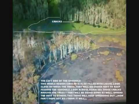 Louisiana Sinkholes Merging Together- 14 + Bubbling Locations- Must Watch This !