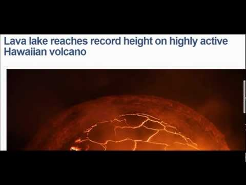 Hawaii : Kilauea lava lake reaches record height (October 22, 2012)