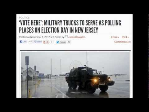 MILITARY TRUCKS TO SERVE AS POLLING PLACES ON ELECTION DAY no electric no food no water come and vote lol