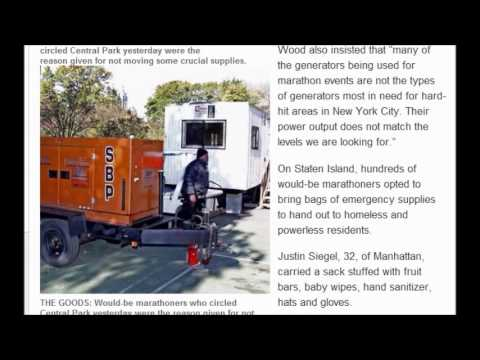 Generators and supplies still sit unused in park: People still cold and hungry (November 5, 2012)