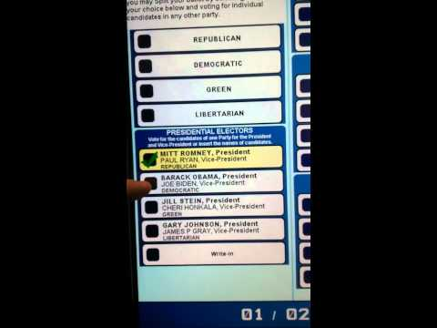 2012 Voting Machines Altering Votes