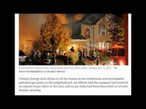 November 11, 2012, 8:41 AM Explosion levels Ind. home, dozen more damaged; 2 dead
