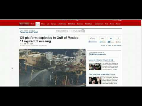 Another Oil Platform Explodes In the Gulf Of Mexico (17th Nov 2012)