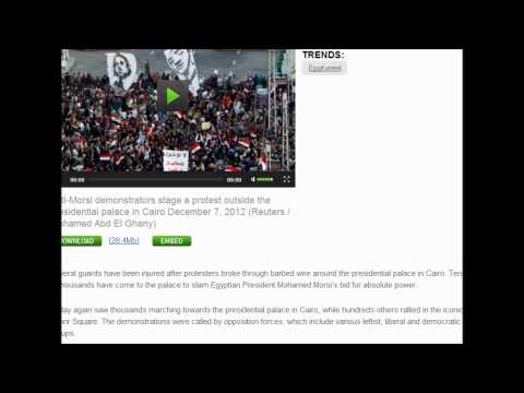 Egypt : Morsi Opponents Break Through To Cairo Presidential Palace (December 7, 2012)