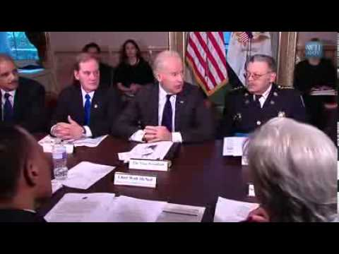 Zionist Vice President Biden Holds White House Meeting With Law Enforce From Across The Nation