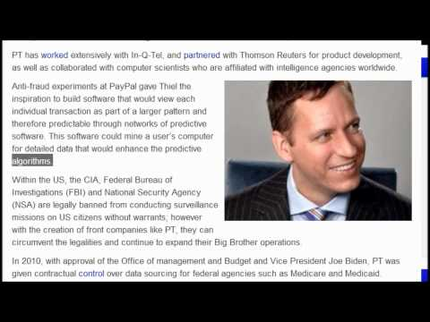Bilderberg Member Thiel Owns the US Gov Data Mining Corporation : Weather,Spying, Batman,etc