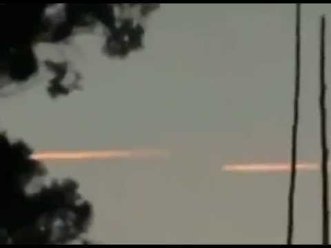 Israeli Bombers Returning Home Over Damascus After Bombing Raid on research center in Syria.