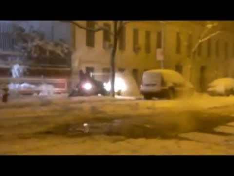 Nemo , Snow Being Cleared in Hells Kitchen New York 02/08/2013