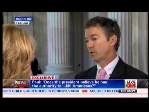 """Sen. Paul appears on CNN's / Holder replies: """"The answer is no."""""""
