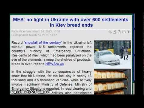 No Power In Ukraine, with over 600 settlements ( towns) . In Kiev bread ends.