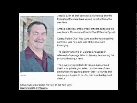 (Colorado) Montezuma County Sheriff says he will not enforce new gun laws.