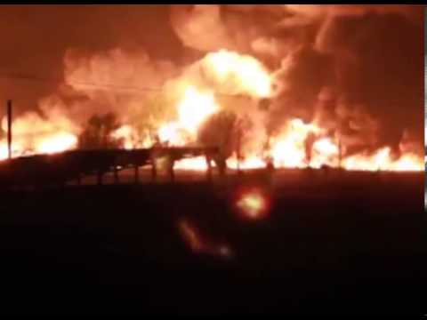 Train Fire,  Belgium, Gent, 300 people evacuated from their homes 04/05/13