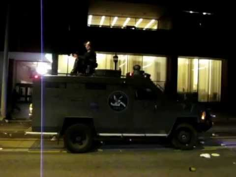 Seattle Police SWAT and their Armored Vehicles, after the May Day Anti-Capitalism/Anti-State March