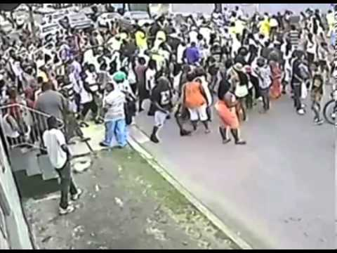 New Orleans Mother's Day parade shooting ( Shooter Bottom Left of Screen )