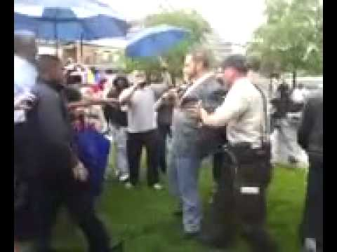 Adam Kokesh  arrested at a marijuana legalization assembly in Philadelphia