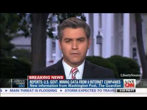 Ron Paul on US Government spying on Internet and Verizon users CNN 6/6/13