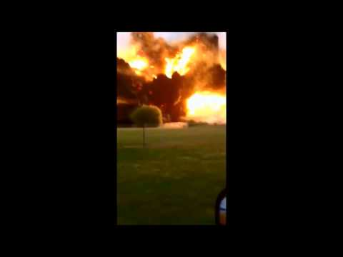 Super Slow Motion Texas Fertilizer Plant Explosion, Missile or Drone Strike