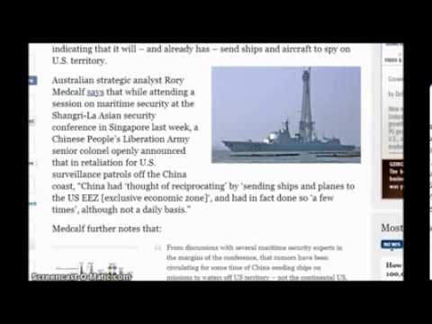 Important  Red Dawn China Warships in American Waters