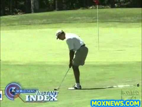 "Obama: ""The Terrorist Threat Is REAL & I'm Here To Protect You From It! Now Watch Me Sink This Putt"""