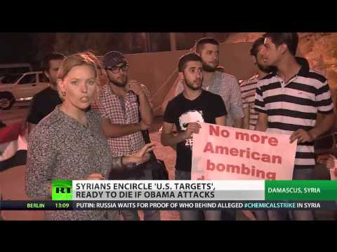 Cannon Fodder: Syrians form human shields around 'US strike targets'