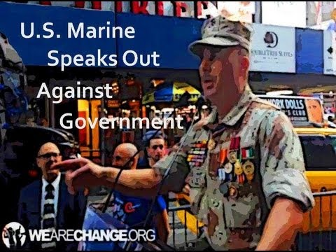Distinguished U.S Marine Stands Up for American People and 9/11 Truth