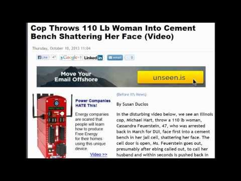 Cop Throws 110 Lb Woman Into Cement Bench Shattering Her Face.