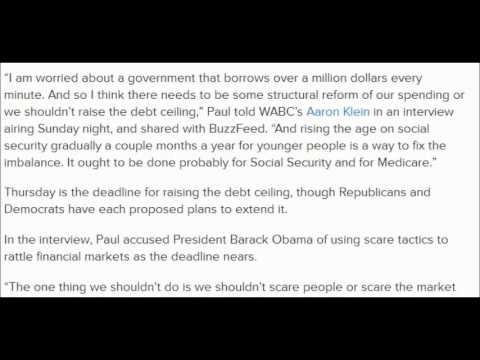 Social Security Checks Will Stop When Debt Ceiling Is Reached 10/15/2013.